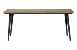 800934-N | Guild tafel naturel met zwart onderstel 180x90 | BePureHome