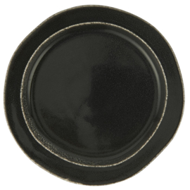 2445-25 | Lunch plate Antique Black Dunes | Ib Laursen