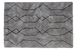 377293-G | Nové vloerkleed lichtgrijs/zwart 200x300cm | WOOOD