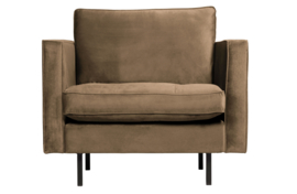 800888-12 | Rodeo classic fauteuil velvet taupe | BePureHome