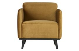 378670-14 | Statement fauteuil met arm - fluweel honing geel | BePureHome
