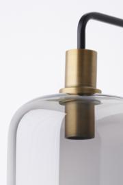3122384 | Wandlamp 35x21x70 cm LEKAR antiek brons+smoke glas | Light & Living