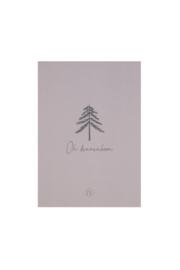 Kaart oh dennenboom - taupe | Zusss - Bestelbaar vanaf week 42!