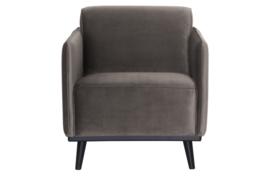 378670-12 | Statement fauteuil met arm - fluweel taupe | BePureHome