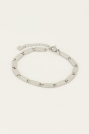 Armband lucky words - goud/zilver | My Jewellery