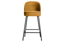 800294-910 | Vogue barstoel 65cm fluweel mosterd | BePureHome