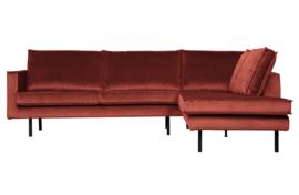 800971-205 | Rodeo hoekbank rechts velvet chestnut | BePureHome
