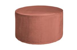 350410-31 | Sara poef laag - oud roze 36xø60 | WOOOD