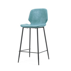 0896 | Bar chair Seashell high - blue | By-Boo