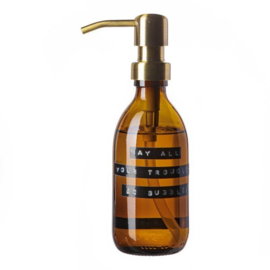 Handzeep bamboe 250ml 'may all your troubles be bubbles' | Wellmark
