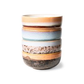 ACE7065 | 70s ceramics: tapas bowls (set of 4) | HKliving - Verwacht vanaf eind december!