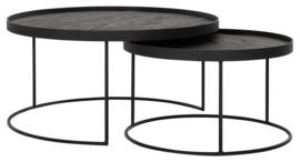 HI 301201 | Salontafels Mercurius zwart - set van 2 | DTP Home