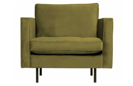 800888-53 | Rodeo classic fauteuil velvet olive | BePureHome