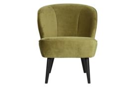 375690-M | Sara fauteuil - fluweel army | WOOOD