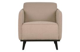 378670-B | Statement fauteuil met arm bouclé beige | BePureHome