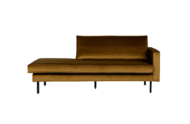 800746-14 | Rodeo daybed right velvet honing geel | BePureHome