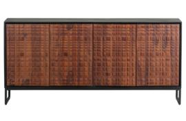 800290-W | Nuts dressoir hout walnoot/zwart | BePureHome