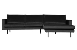 800902-79 | Rodeo chaise longue rechts velvet antraciet | BePureHome