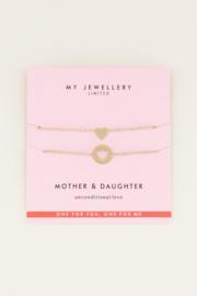 Moeder & dochter armband set - goud/zilver | My Jewellery