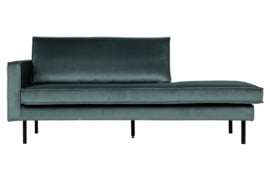 800743-198 | Rodeo daybed left velvet teal | BePureHome