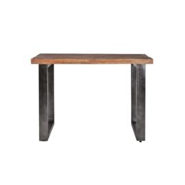 11155 | Countertafel 90 cm met metalen poot - zwart | Eleonora