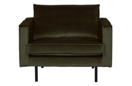 800541-156 | Rodeo fauteuil velvet dark green hunter | BePureHome
