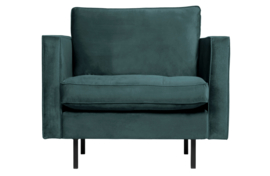 800888-198 | Rodeo classic fauteuil velvet teal | BePureHome