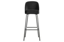 800293-Z | Vogue barstoel 80cm fluweel zwart | BePureHome