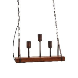 675327 | Hanglamp Quinn 3 fittings op hout | PTMD