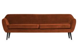 340480-126 | Rocco xl sofa 230 cm fluweel roest | WOOOD