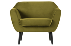 340454-53 | Rocco fauteuil fluweel olive | WOOOD