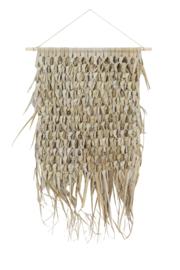 7416984 | Wandornament 65x80 cm KATIOLA palm blad | Light & Living - alleen afhalen