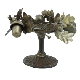 704537 | Nilo Brass old iron candle holder forest deco S | PTMD - Verwacht vanaf week 43!