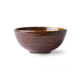 ACE6714 | Home chef ceramics: dessert bowl rustic brown | HKliving