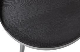 375430-Z   Mesa bijzettafel XL hout zwart 39xø78   WOOOD