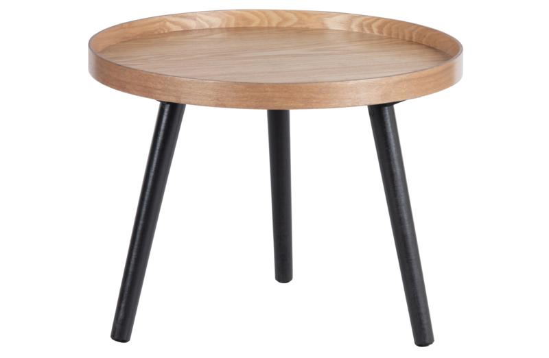 377221-N   Mesa bijzettafel M hout naturel 45xØ45   WOOOD
