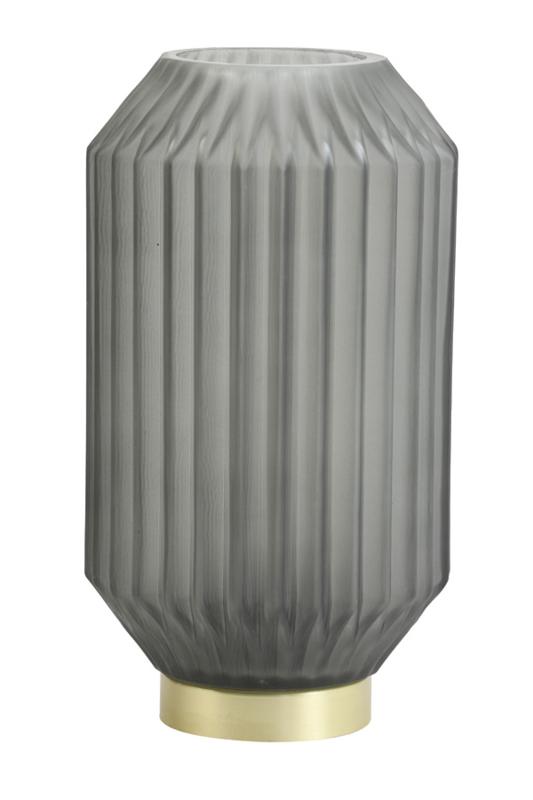 1851378  Tafellamp LED Ø15x27 cm IVOT glas mat olijf groen   Light & Living - back in stock eind januari