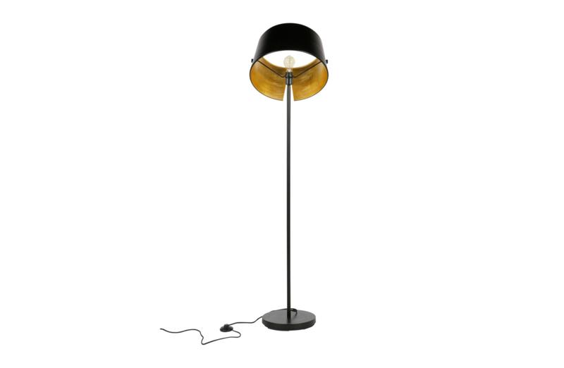 373736 Z   Pien vloerlamp metaal zwart   WOOOD Exclusive