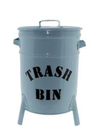 Emmer/Trash Bin BABY blauw (50 x30 cm)