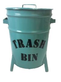 Emmer/Trash Bin Blauw (50 x30 cm)