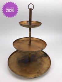 Etagère 3 delig 35x35x43 cm Blue Gold collectie 2020