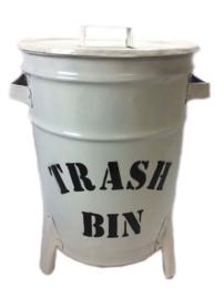 Emmer/Trash Bin Wit (50 x30 cm)
