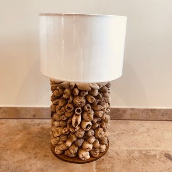 Lamp (driftwood) H 50 cm (incl kap) drijfhout