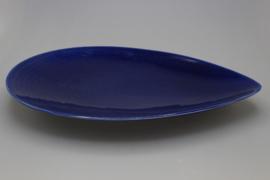 FLAT DISH 35 CM (BLUE)