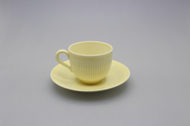 KOLORITA COFFEE CUP AND SAUCER - YELLOW (A)