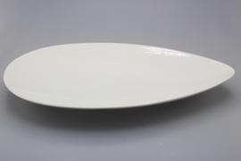 FLAT DISH 35 CM (WHITE)