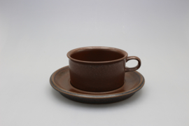 TEACUP AND SAUCER (B) - PALE BROWN