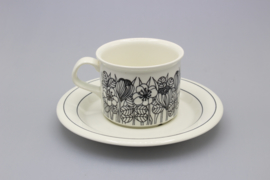 CUP AND SAUCER 0.18L - BLACK-AND-WHITE