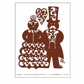 "DESIGNER TEA TOWEL ""GUMMAN & GUBBEN PEPPARKAKA"""