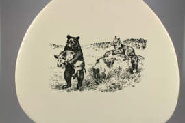 PLATE ANIMAL DRAWINGS - BEAR, FOX AND SWINE